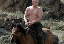 Vladimir Putin a caballo