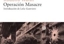 Walsh Operación masacre portada