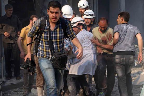 Foto de Zein Al-Rifai en Alepo (AFPTV)