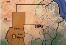 Localización de la zona de Darfur en Sudán