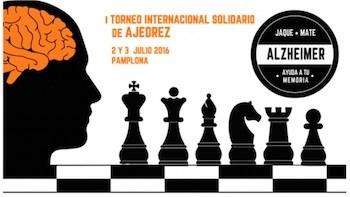 Cartel del I Torneo solidario contra el Alzheimer de Pamplona.