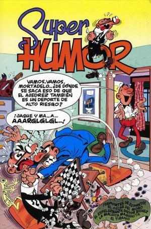 Portada de Superhumor de Mortadelo relacionado con el ajedrez.