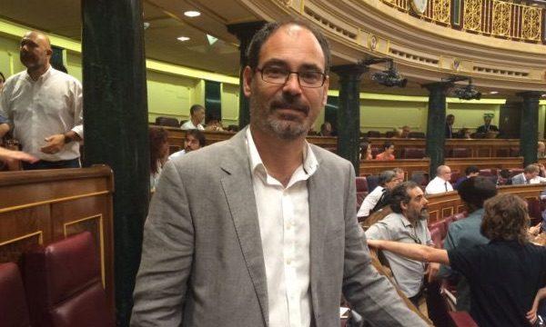 Alberto Montero (Podemos) en el Congreso de los Diputados