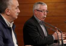 Pepe Álvarez (UGT) e Ignacio Fernández Toxo (CC OO)
