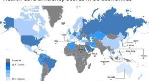 España tercer lugar en eficiencia sanitaria por su Sistema Nacional de Salud