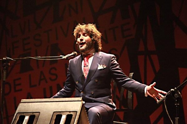 Antonio Reyes en concierto en la Catedral del Cante de las Minas.