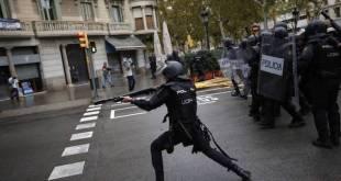 Cataluña:uso excesivo de la fuerzapor la policía y guardia civil