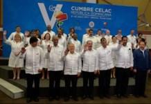 Foto de los mandatarios de países miembros de la Celac en Bávaro, República Dominicana. Andes/AFP