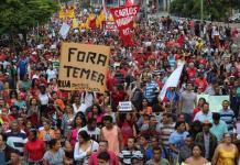 Protestas de los trabajadores en Brasil el 28 de abril de 2017