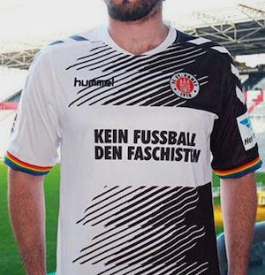 Diseño de la camiseta conmemorativa del Sankt Pauli.