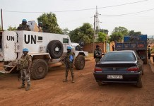 Cascos Azules de la operación Minusca en República Centroafricana