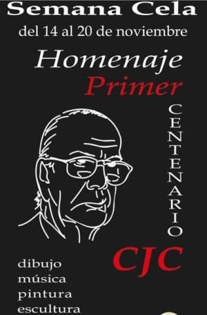 Cartel de la exposición homenaje en el centenario de Cela, en el Círculo de Bellas Artes de Madrid