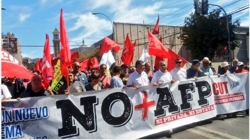 Sistemas privados de pensiones: protestas en Chile