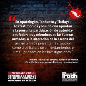 Informe de la CIDH sobre derechos humanos en México
