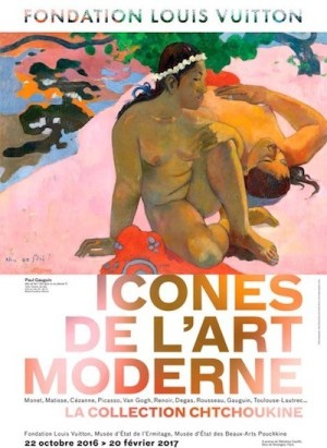 Colección Shchukin en la Fundación Vuitton en París, cartel