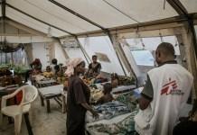 Hospital de campaña para combatir el cólera en la República Democrática del Congo