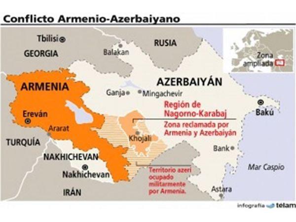Frontera entre Armenia y Azerbaiyán