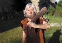 Conrado Granado de troglodita en anuncio de Movistar