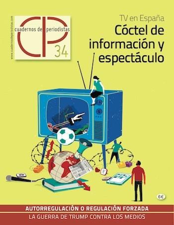 Cuadernos de Periodistas, portada del número 34, JUL 2017