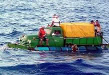 Balseros cubanos intentan llegar a territorio de los EEUU en embarcaciones improvisadas: