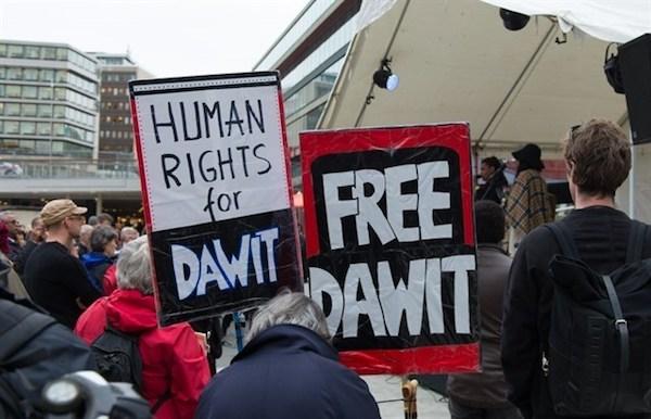 Manifestaciones por la libertad de Dawit Isaak