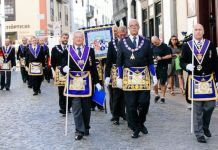 Desfile masónico en Canarias