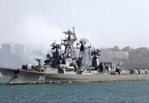 El buque patrullero ruso Smetliviy en el Mar Negro