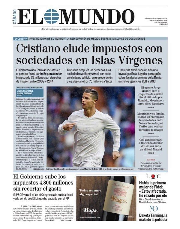 Censura en España para tapar el fraude fiscal de futbolistas