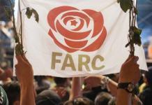Pancarta del partido político de las FARC- @ ANDES/Semana35