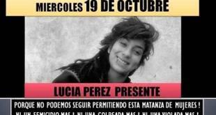 """Afiche convocando al """"paro"""" de mujeres de una hora, bajo el lema """"Si mi cuerpo no importa produzcan sin mí"""", en Argentina, en el marco de las movilizaciones contra la violencia de género que disparó en octubre de 2016 el asesinato de Lucía Pérez."""