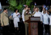 Raúl Castro en los funerales por Fidel en Santiago de Cuba, el 3 de diciembre de 2016