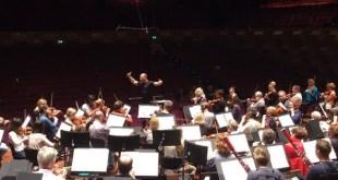 Foto del ensayo de la Filarmónica de Rótterdam bajo la dirección de Yannick Nézet-Séguin