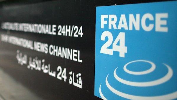 Logo del canal France 24 en árabe