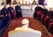 El papa Francisco con los obispos mexicanos