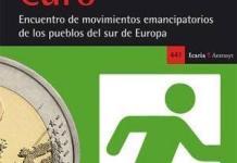 """Portada de """"Librarse del Euro- Encuentro de movimientos emancipatorios de los pueblos del sur de Europa"""" publicado por Franquesa editor"""