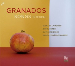 Granados Songs Integral, carátula