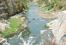 Cauces de agua degradados en Guatemala