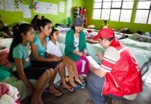 Las escuelas cercanas al Volcán de Fuego en Guatemala han sido convertidas en albergues temporales.