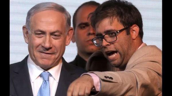 Oren Hazan del Likud a la derecha, junto al primer ministro israelí, Benjamín Netanyahu.