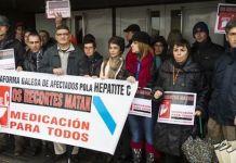 Protestas en Galicia por la falta de tratamientos contra la Hepatitis c