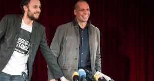 Srećko Horvat y Yanis Varoufakis en Berlín