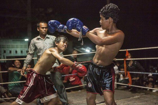 """Fotografía de la serie """"Quiero ser boxeador"""" en que Javier sigue la vida de un niño de Camboya cuyo máximo deseo es el de llegar a ser boxeador"""