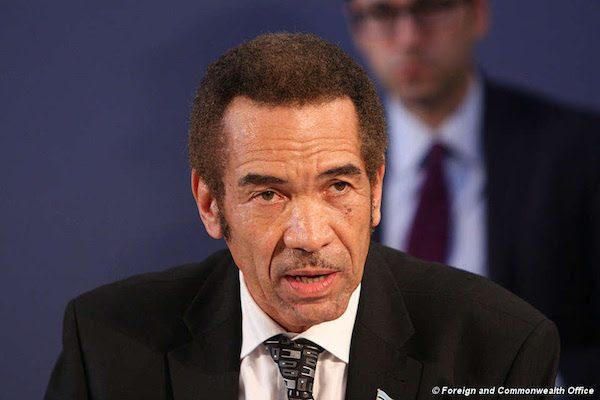 El presidente de Botsuana, Ian Khama.© Foreign and Commonwealth Office