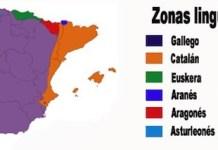 Mapa de las lenguas cooficiales en España