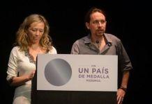 Victoria Rosell y Pablo Iglesias en un acto electoral de las legislativas del 22N de 2015