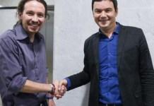 Iglesias con Piketty en París