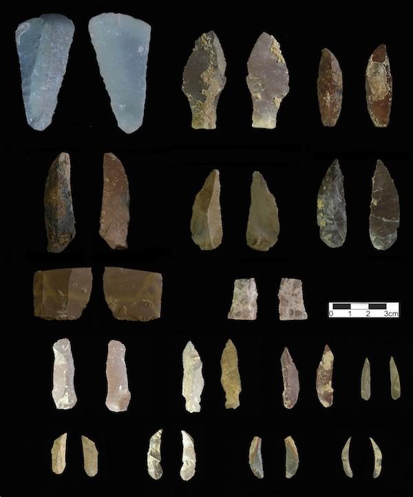 Iran, cueva de Kaldar, herramientas
