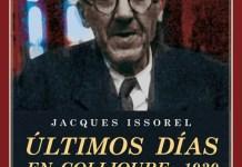 Issorel, Jacques: Últimos días en Colliure, 1939, y otros estudios breves sobre Antonio Machado, portada