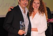 Laura del Sol con Ricardo Darin