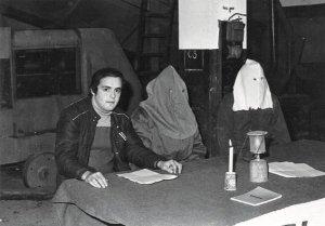 Un joven Leo Battesti en la presentación del FLNC en 1976.